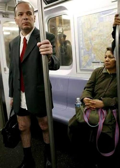 No Pants Businessman