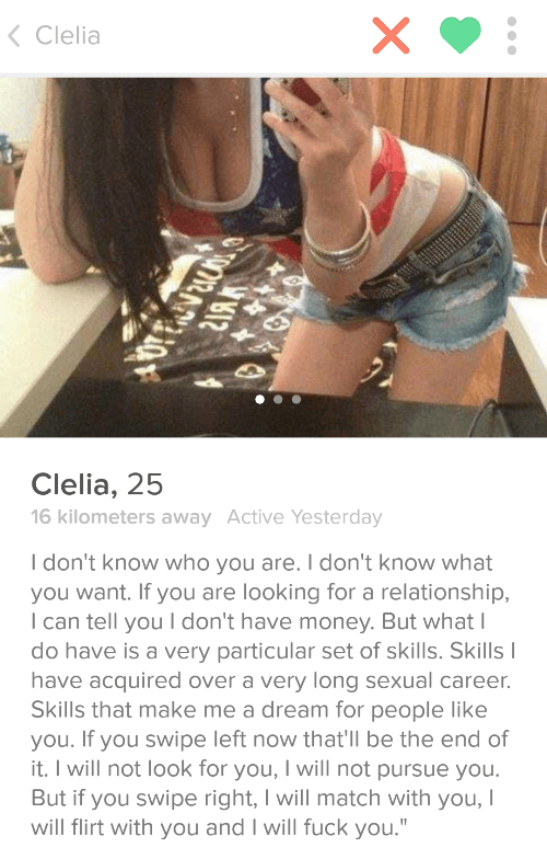 Tinder Profiles Particular Skills