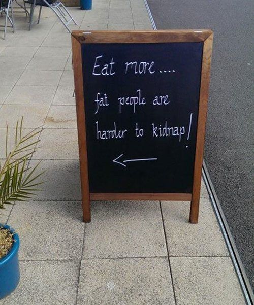 Eat More Chalkboard Sign