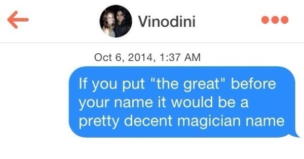 Funny Tinder Lines Magician Name