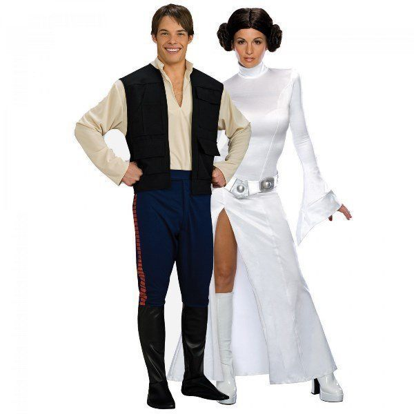 Hans Solo And Princess Leia Star Wars Couples Costume