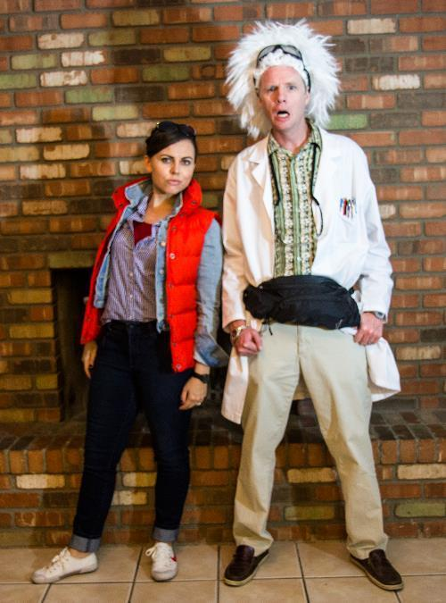 Marty Mcfly Doc Brown
