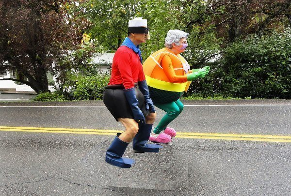 Mermaid Man Barnacle Boy Costume