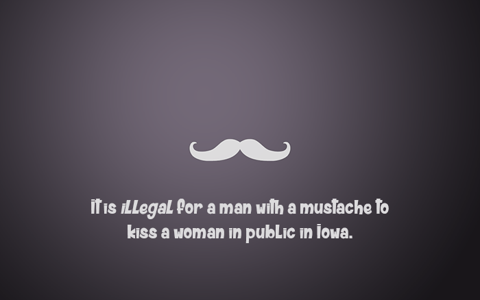 Mustached Men Kissing Women