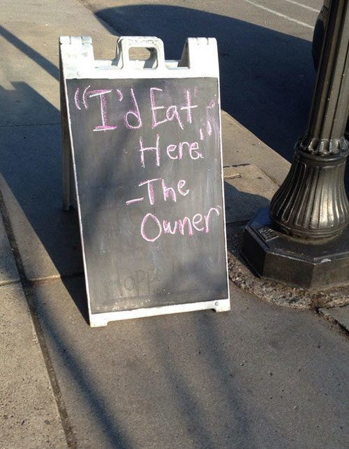 Owner Eats Here