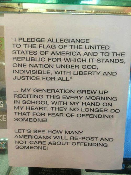 Pledge Alliegance