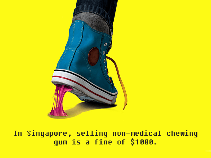 Selling Gum In Singapore