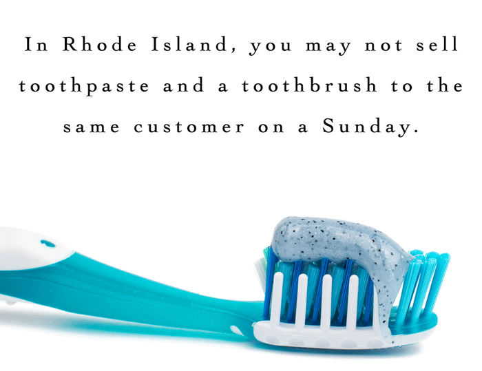 Selling Toothpaste In Rhode Island