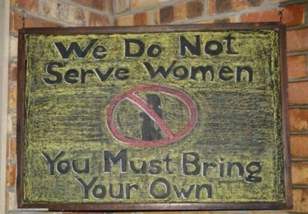 Serve Women Chalkboard Sign