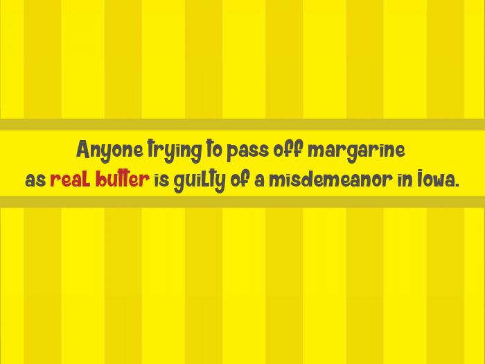 Stupid Laws Margarine In Iowa