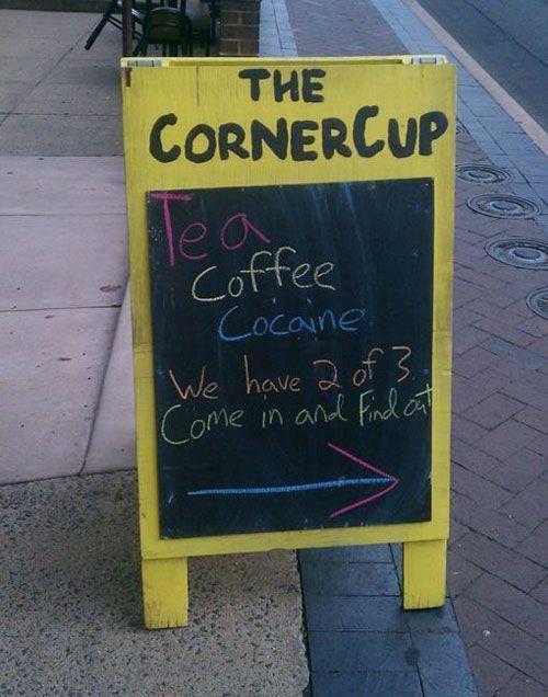 Tea Coffee Cocaine