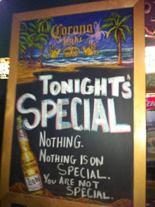 Tonights Special