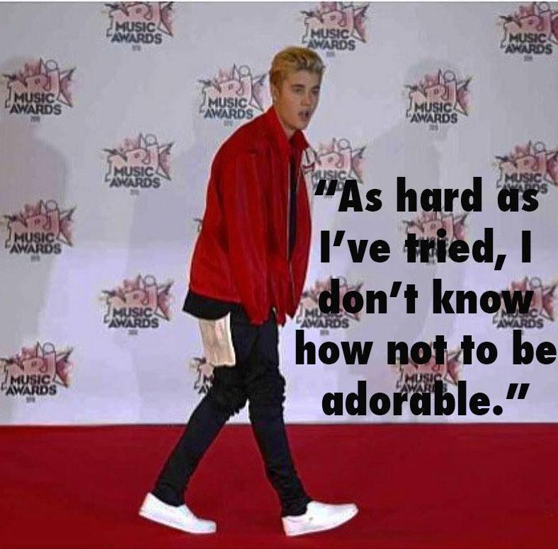 Justin Bieber Dumb Adorable