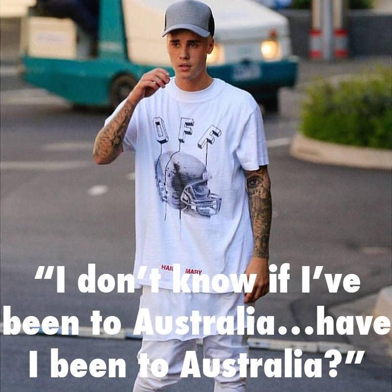 Justin Bieber Dumb Australia