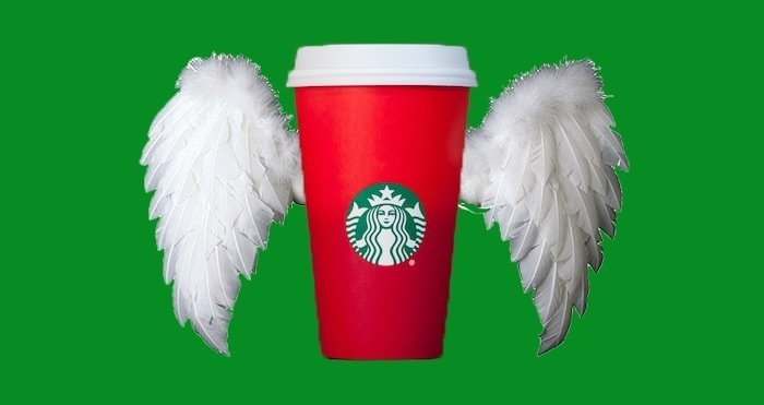 Starbucks Cup With Angel Wings