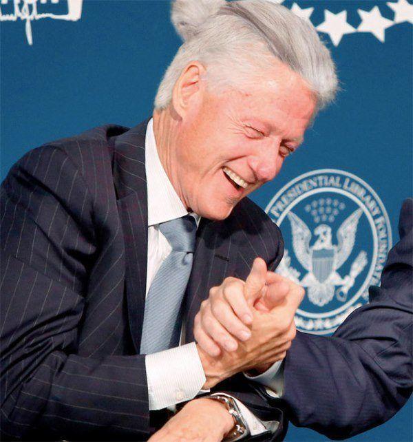 Bill Clinton Man Bun