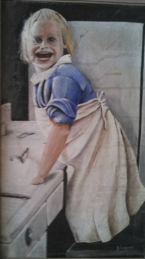 Creepy Kid Painting