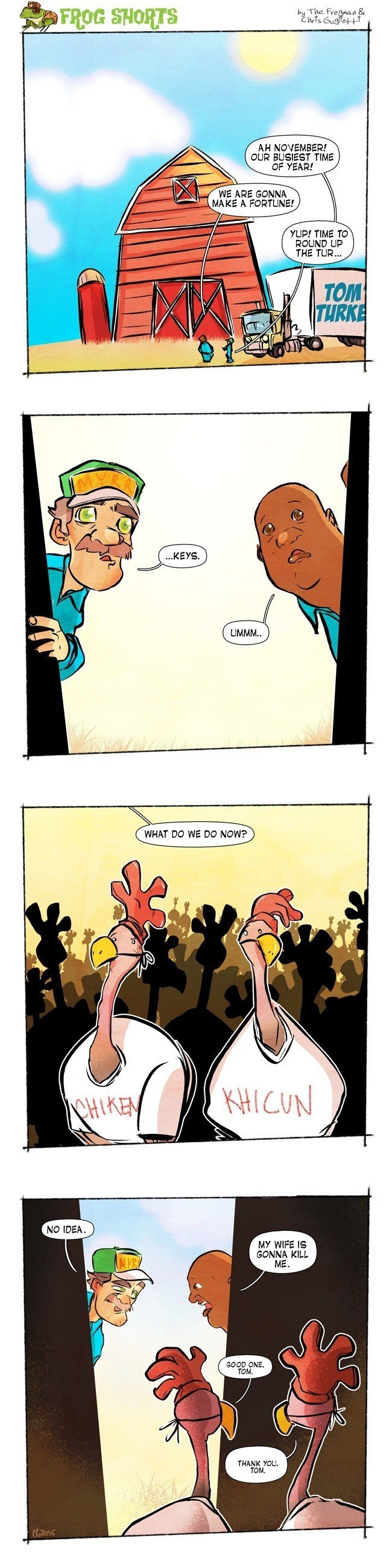 Frogman Comics Thanksgiving