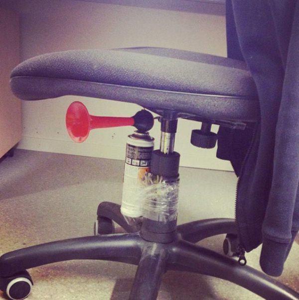 Horn Under Chair Prank