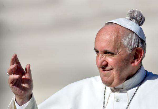 Pope Francis Man Bun