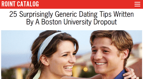 Roint Dating Tips Feature