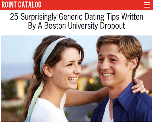 Roint Dating Tips
