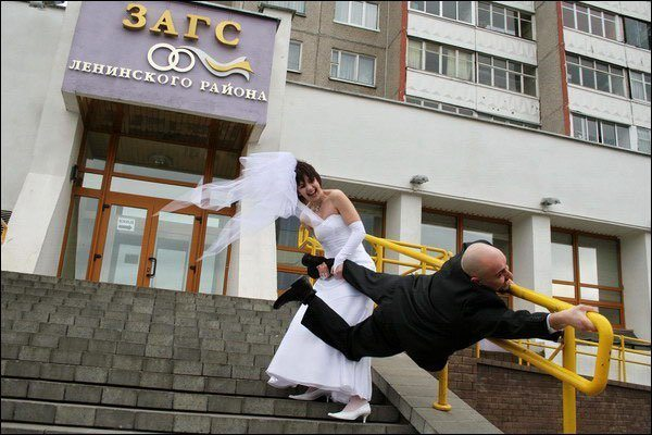Russian Wedding Dragging Husband