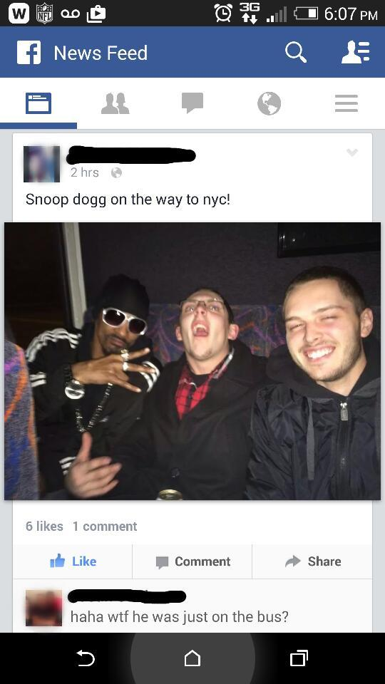 Snoop Dogg Not A Celebrity