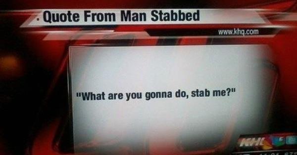 Stab Me