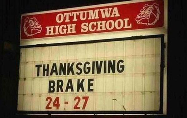 Thanksgiving Brake
