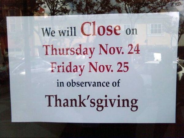 Thanksgiving Observance