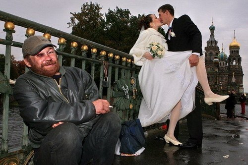 Wedding Homeless Man