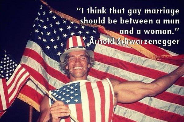 Arnold Schwarzenegger Gay Marriage