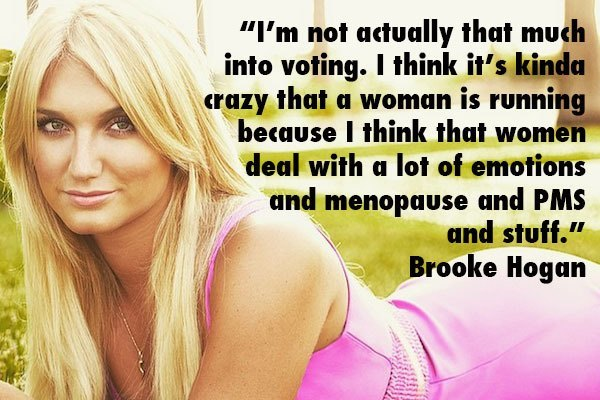 Brooke Hogan Women Voting