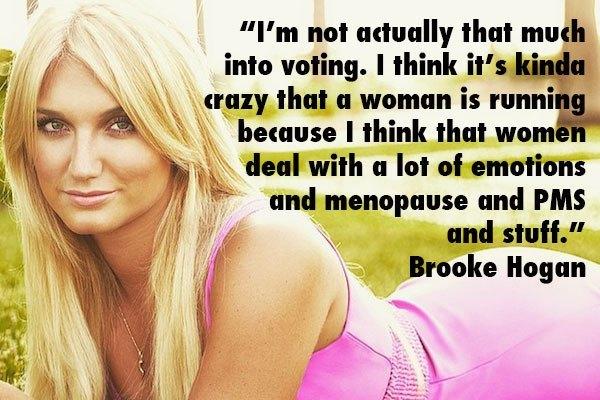 Brooke Hogan Women Voting