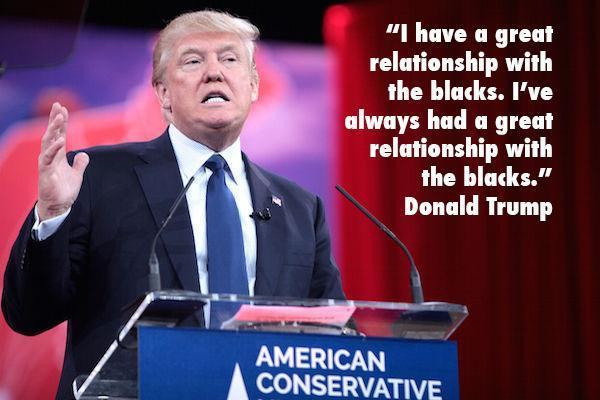 Donald Trump The Blacks Copy