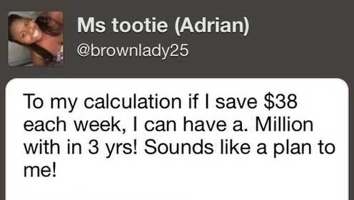 Millionaire Calculation