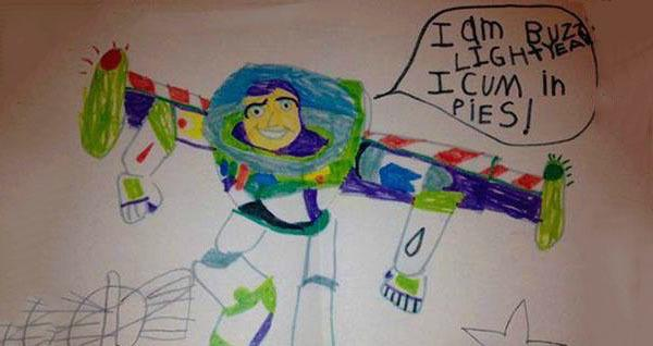 inappropriate kids' drawings og
