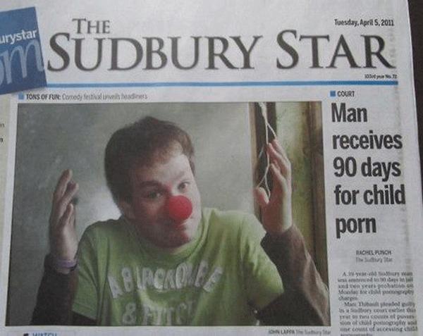 Child Porn Headline Fail