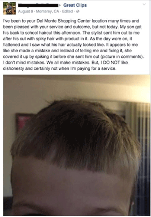 Dishonest Haircut