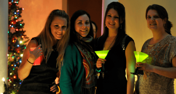 Glowing Martinis