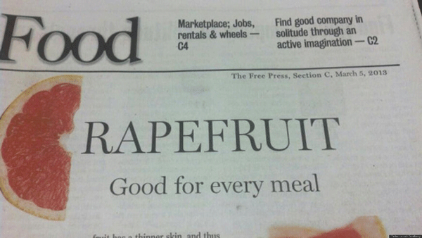 Grapefruit Headline Fail