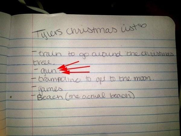 Gun Christmas List