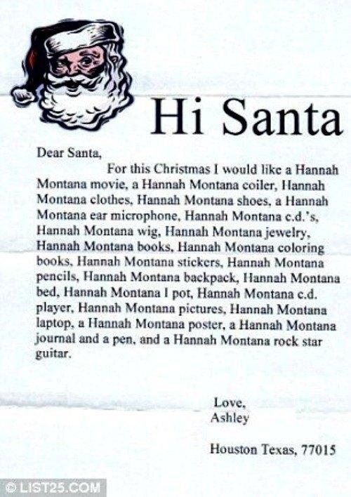 Hannah Montana Santa