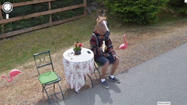 Horse Man Google Street View