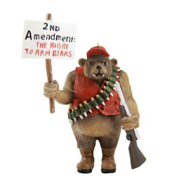 Hunting Bear Ornament