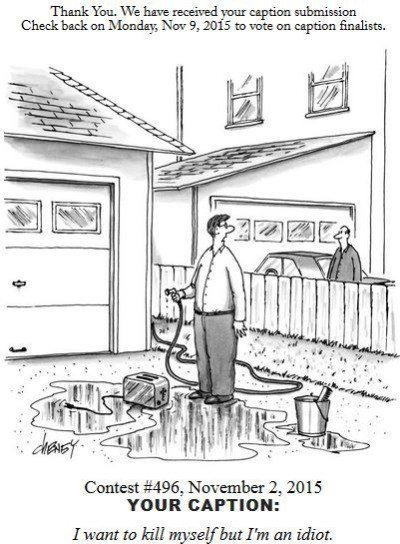 Kill Myself New Yorker Cartoon Captions