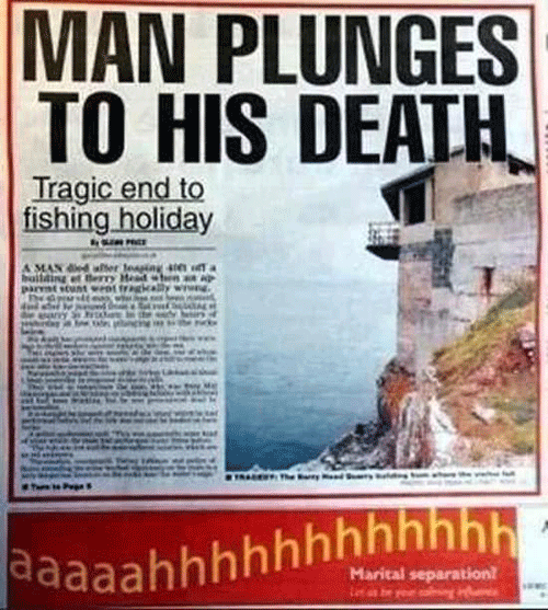 Man Plunges To Death