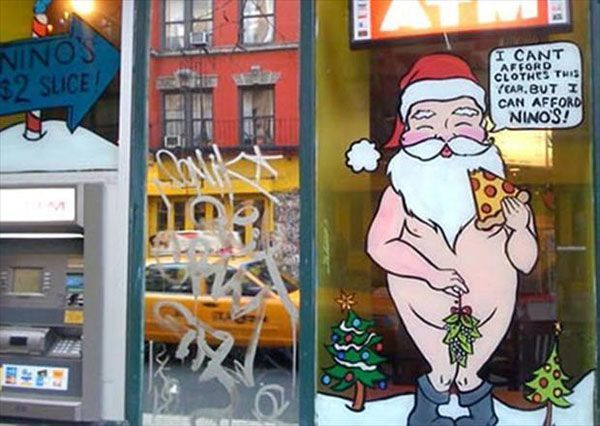 Naked Santa Christmas Decorations