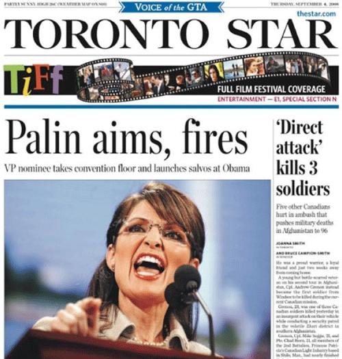 Palin Aims Headline Fail